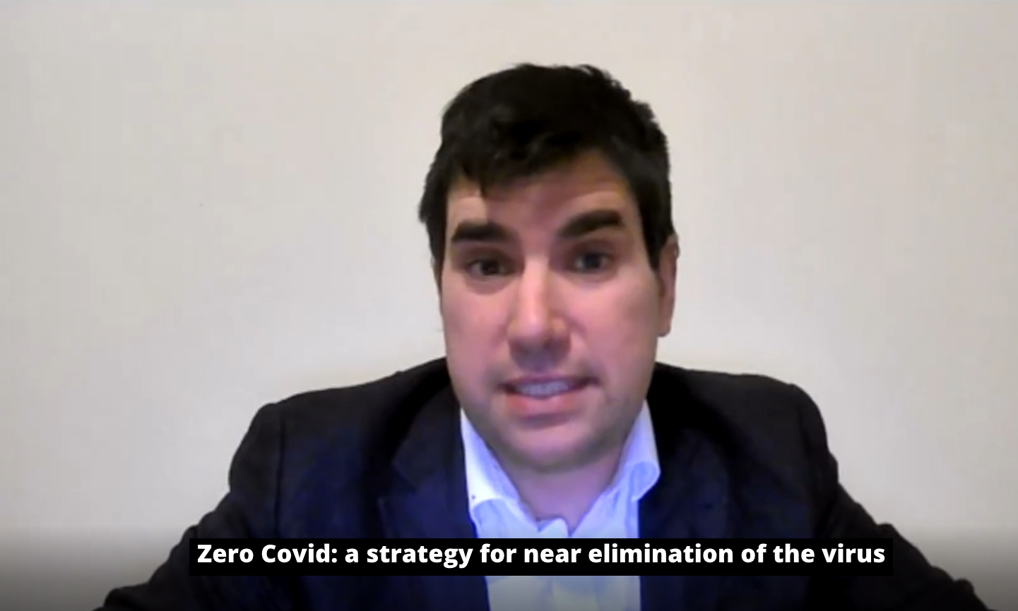 Richard Burgon MP with the caption Zero Covid: a strategy for near-elimination of the virus